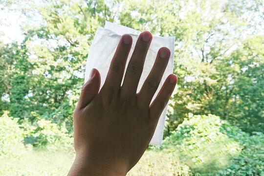 窓ガラスが汚れる原因~手垢~