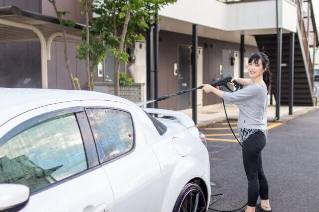 高圧洗浄を使った洗車の方法