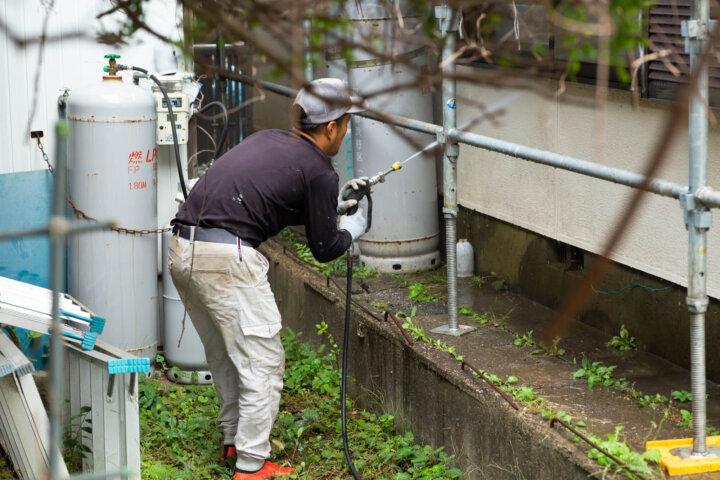 家庭用の高圧洗浄機で外壁洗浄